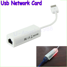 Wholesale 1pcs USB 2.0 to RJ45 Lan Network Ethernet Adapter Card For Mac Tablet pc Win 7 8 XP 100Mbps Drop freeship