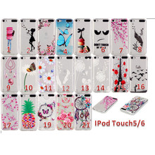 For iPod touch 5 iPod touch 6 Case soft TPU Silicon cartoon Back Cover For coque iPod touch5 iPod touch6 phone case Shell Capa