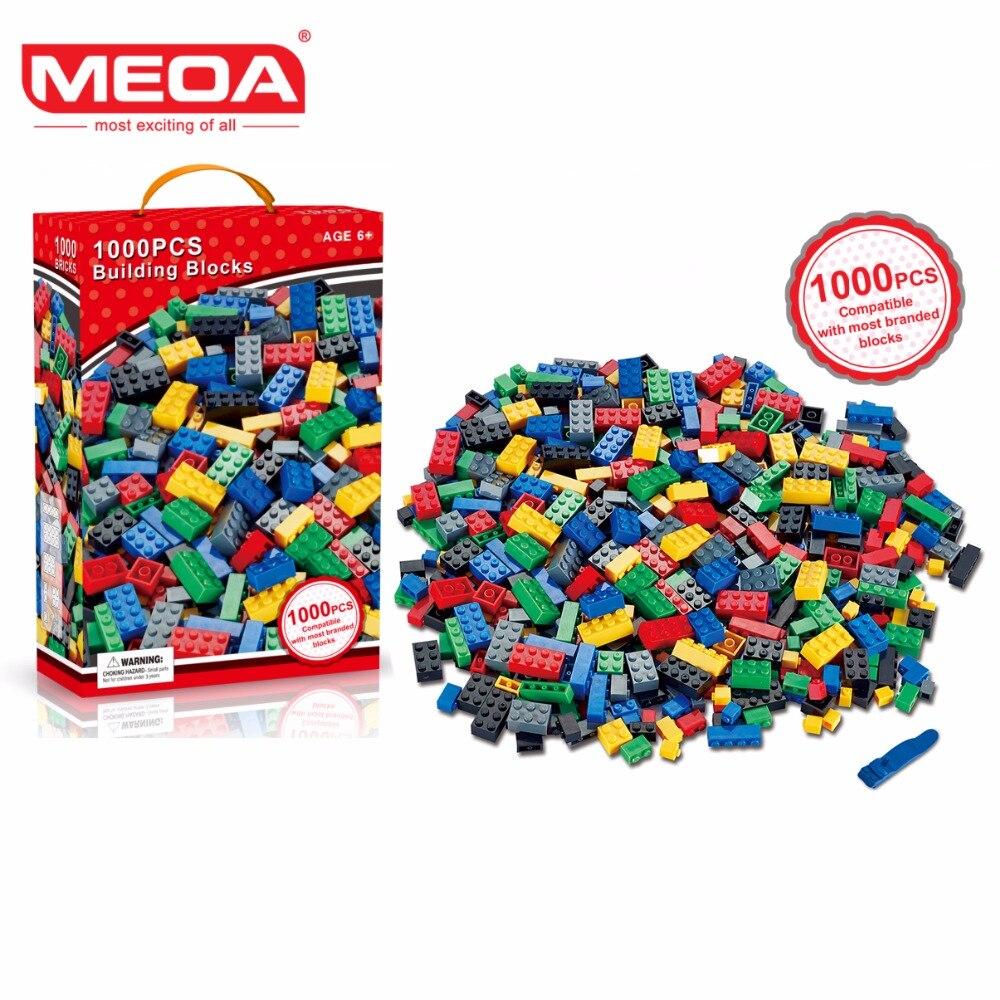 MEOA 1000pcs Building Bricks Set DIY Creative Brick Kids Toy Educational Building Blocks Bulk Compatible With Brand Blocks<br>