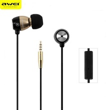 Awei ESQ38i not Q9 Super Bass music Inear Earphone 1.2m Cable With Mic For Iphone for xiaom Noise Isolating headset and earphone