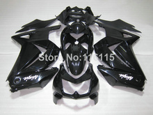 Fit for Kawasaki Ninja fairings 250r 2008- 2014 injection molding ZX250 08-14 all glossy black motorcycle fairing kit EX250 NZ18