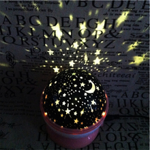 Romantic Rotating Spin Night Light Projector Sky Star Moon Master USB Projection Lamp For Kids Baby Sleep Lighting Xmas Lampada