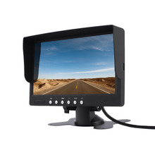 New Styling 7 Inch LCD Monitor 800x480 TFT Color Screen Two Video Input One Audio Input Remote Control Reverse Image CCTV Video(China)