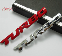 3D Emblem TURBO METAL GRILL Rear Trunk Car Badge car sticker for Audi BMW Ford focus VW skoda seat Peugeot lada Renault Hyundai(China)