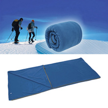 Outdoor Camping Multifuntion Ultra-light Portable Spring and Winter Warm Polar Fleece Sleeping Bag Travel Hiking Bag(China)