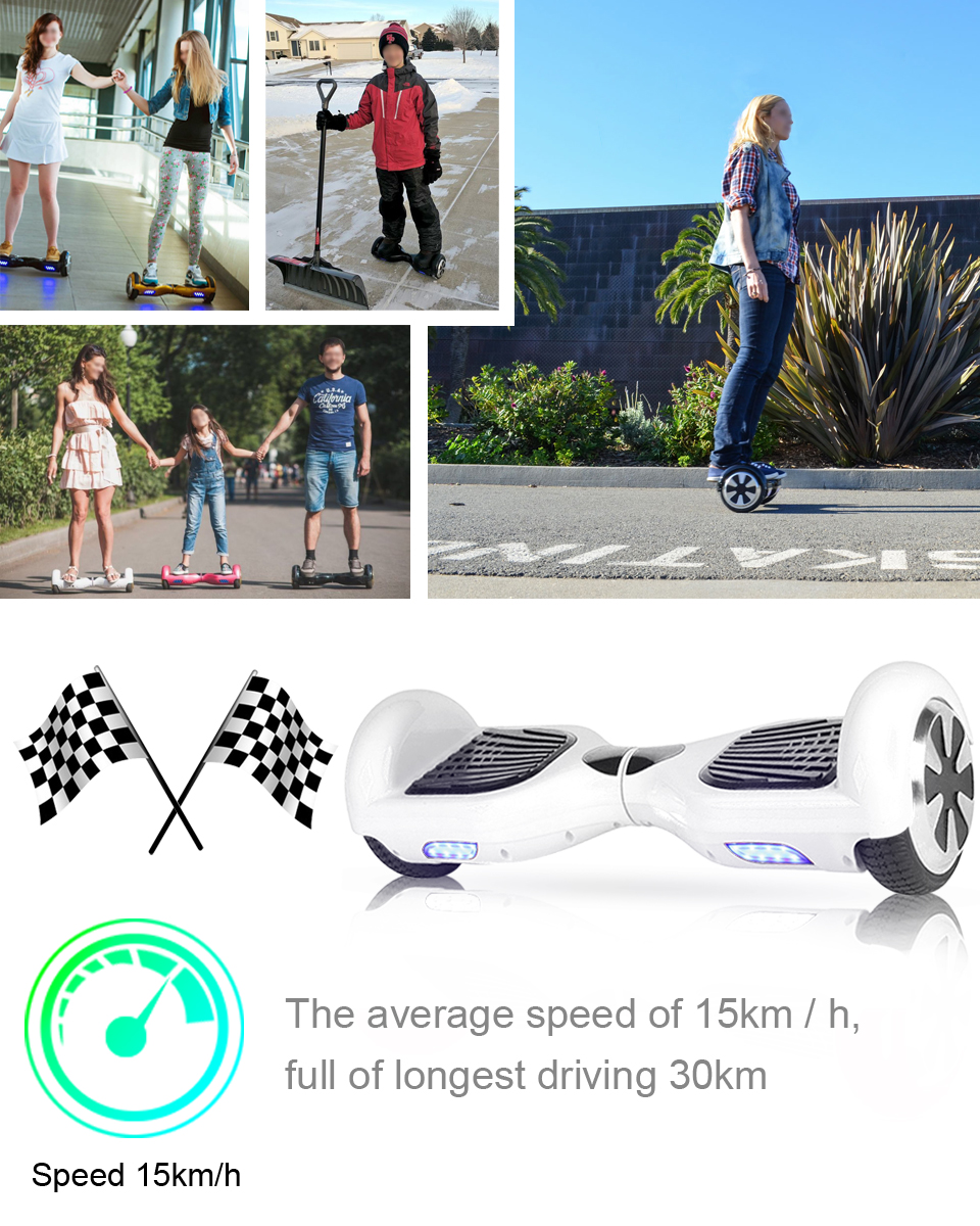Electric Skateboard Self Balancing Scooter two wheel 6.5 hoverboard(9)