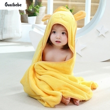 New Infant Baby Bath Towel Four Season Newborn Plain Blankets Hooded Towels For Children Kids Fashion Soft Cartoon Cotton Towel