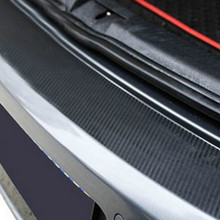 Car Styling Rear Bumper Protection Carbon Fiber Sticker FIT for Volkswagen VW Golf 6 Golf R20 GTI protection(China)