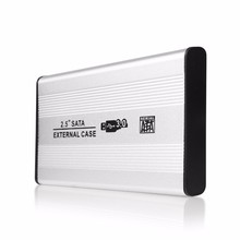 New USB 3.0 SATA External HDD Case Silver Aluminum 2.5 Inch Hard Drive Disk Storage Enclosure Box with USB  Cable Screw driver