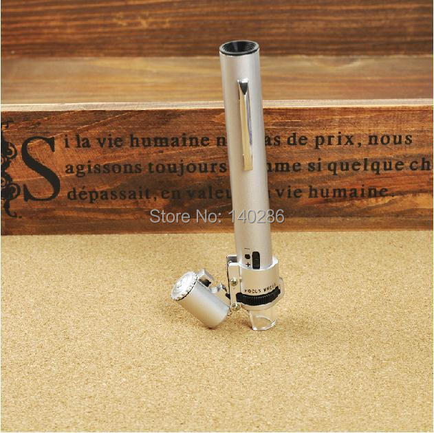 Standard 100X  Pen  With LED lights  Microscope  Handheld  Jewelry Loupe Magnifier Identification tool<br><br>Aliexpress