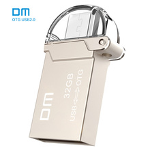 Free shipping DM PD008 8G 16G 32GB USB2.0 with double connector used for OTG smart phone and computer waterproof metal material(China)