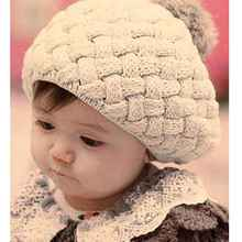 Cute Baby Hats Handmade Crochet Knitted Warm Kids Skullies Beanies Caps Infant Toddlers Hats Caps Casquette Newborn Photo Props(China)