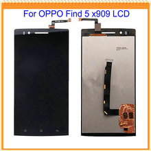 100% New Tested LCD for OPPO Find 5 x909 LCD Screen Display with Touch Screen Digitizer Assembly Black Free Shipping