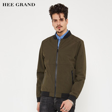 HEE GRAND Men Stylish Jacket Stand Collar 2017 New Arrival Wide-waisted Solid Color Spring Autumn Outwear Size M-3XL MWJ2131