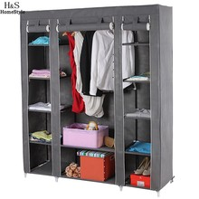 Homdox New DIY Non-woven Wardrobes Portable Simple Closet Storage Cloth Cabinet Shelves Hanging Bar Shoes Clothes Wardrobe#30-19