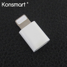 KONSMART Micro USB Cable to 8 Pin Adapter For iPhone 7 5S SE 6 6S ipad Converter Charger 8pin Female Adapter For Android iPhone