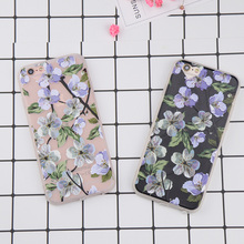 For iphone 6 case Sketch Flower Pattern case for iphone 7 case DILLON GUAN Retro Floral Soft phone cover capa for iphone 8 case(China)