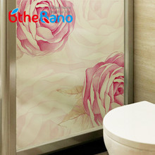 60cm*58cm Sweet flower window film frosted Glass Window Sticker glass Film self Adhesive window film Home Decor(China)