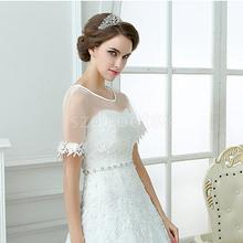 Wedding Gauze Lace Flower Margin Bridal Shawl Scarf Shrug