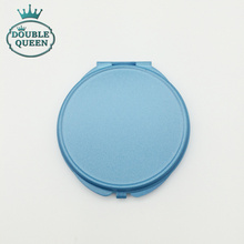 Back Gift for Guest Casamento Blue Painting Cosmetic Pocket Mirror Wedding Gift for Guest (could laser Bride and Groom Name)