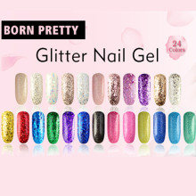Born Pretty 10ml Shimmer Nail Gel 24 Colors Nail Polish UV Gel Popular Gold Silver Red Black Glitter Varnish Nail Gel