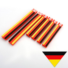 6PCS German Flag Door Edge Guard Protector Anti-scratch Rear View Mirror Stripe Bar Universal for VW Golf Polo for Audi Volvo(China)