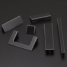 Silver Drawer cupboard aluminum alloy door handle,wardrobe door Flattened handle, plus size Lengthened simpleand,Hardware(China)
