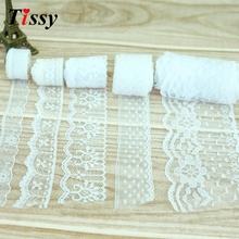 20Yard/Lot White High Quality Lace Ribbon Embroidered Net Lace Trim Fabric For Wedding Decoration By Best Price(China)