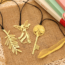 4PCS Gold Metal Bookmark Paper Clip Antique Plated Butterfly Dragonfly Bookmarks Statioenry(China)