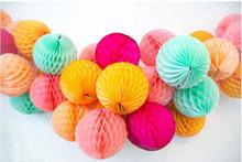10pcs 15cm (6 inch) Tissue Paper Flower ball Honeycomb Lantern Wedding decoration Birthday Party suppliers for child