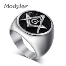 Masonic rings stainless steel jewelry for men big ring high quality wholesale fashion jewelry