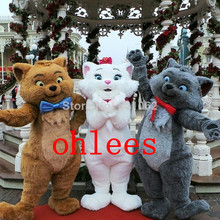 Ohlees Toulouse & Marie & Berlioz from the Aristocats cat Mascot Costume Halloween Christmas Adult cartoon animal customize(China)