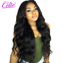 Celie Hair Brazilian Virgin Hair Body Wave Bundles Natural Black Color Hair Weave Bundles Can Be Dyed 100% Human Hair Bundles