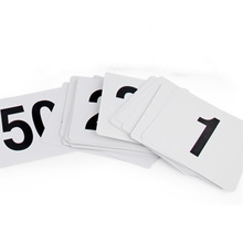 New Plastic Table Marker Number Cards for Banquets or Poker Tables 1-100  Black on White Table Numbers Wedding Restaurant Bar