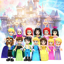 Legoingly Fairy Tale Princess Girl Building Blocks Anna Elsa Cinderella Eric Belle Friend Bricks Toy Figures For Children Gift(China)