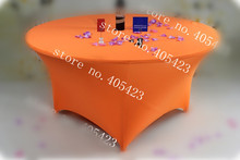 10pcs/lot,6ft Premium quality spandex Lycra fitted round table cover Trestle cocktail tablecloth