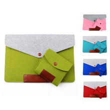 "wool Felt bag for macbook 11""12""13"" Ultrabook Laptop Sleeve Pouch For Macbook Air Pro Retina 13.3 inch with the mouse bag"