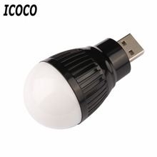 ICOCO 1pcs Portable Mini USB LED Light Lamp Bulb For Computer Laptop PC Desk Reading Hot New