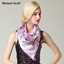 90 x 90cm 100% Polyester Imitation Satin Silk New Arrival Styles Popular Scarves