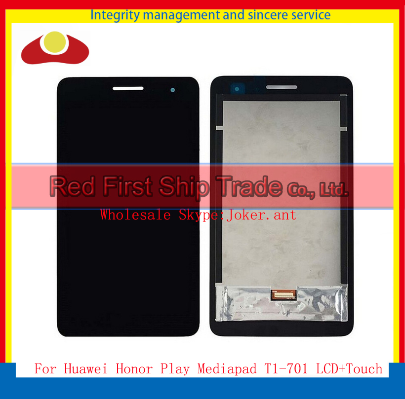 7.0 For Huawei Honor Play Mediapad T1-701 T1-701U Tablet Full LCD Display Touch Screen Panel Digitizer Assembly Complete Black<br><br>Aliexpress