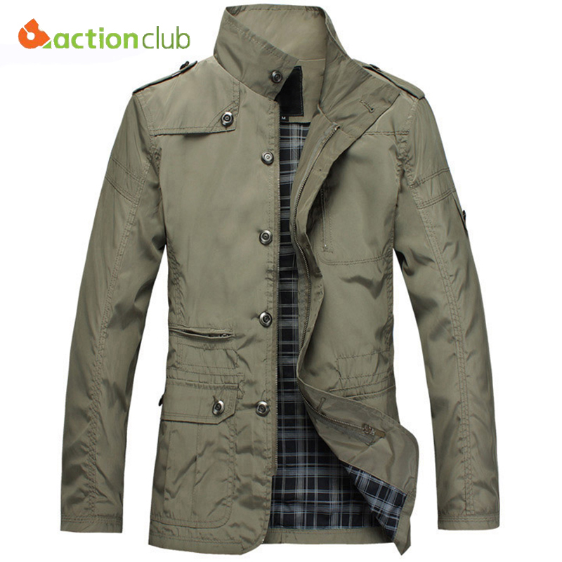 ACTIONCLUB Fashion Thin Men Jacket Coat Hot Sell Casual Wear 5XL Korean Comfort Autumn Overcoat Necessary Spring Coat(China (Mainland))