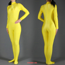 Can be Custom 2016 hot sale Gold Lycra Spandex Zentai Suit full body Halloween Women Fancy Costumes