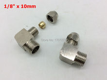 "free shipping copper fitting 1/8"" x 10mm High Quality elbow Ferrule Tube Pipe Fittings Threaded Male Connector, brass fitting"