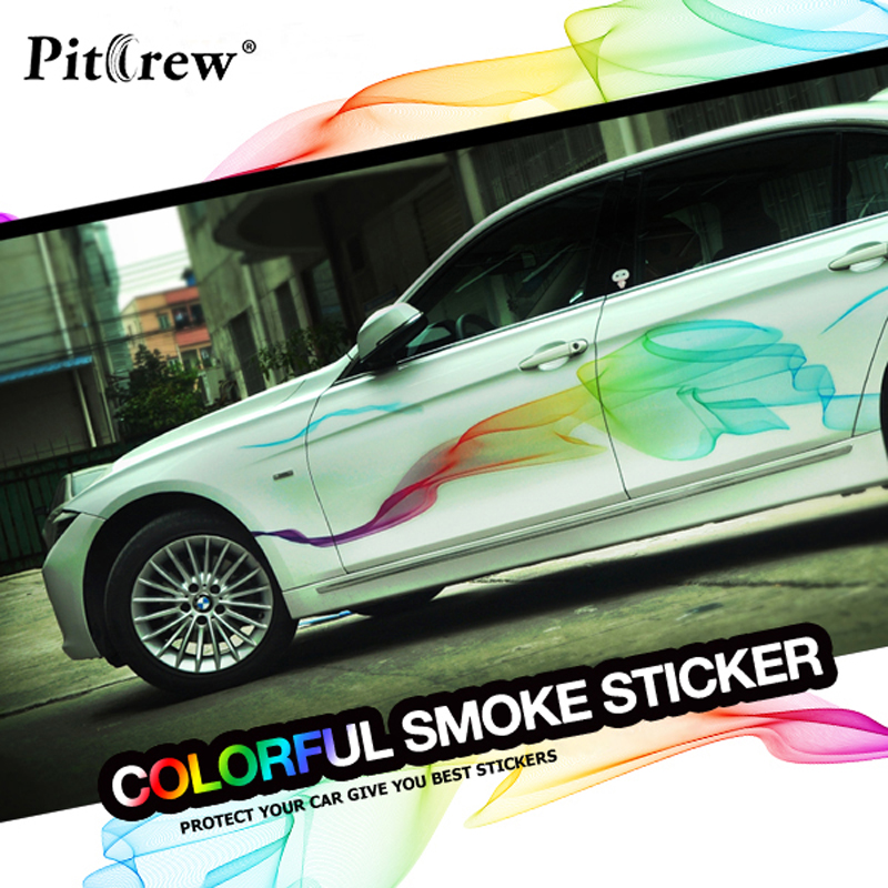 Car Stickers Beautiful Rainbow Lines Car Styling Decals Decorative For Whole Body Tuning Styling Waterproof Exterior Accessories<br>