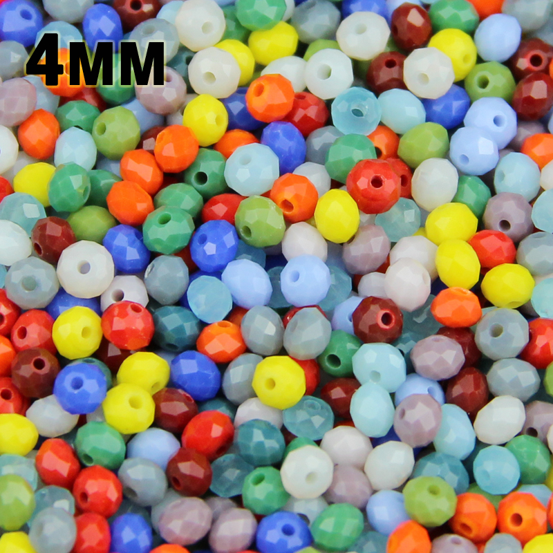 JHNBY Round Shape Upscale Austrian crystal beads Imitation ceramic 4mm 100pcs loose ball beads necklace Bracelet Jewelry DIY()