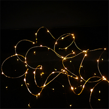 2017 Good Quality Beige 2M 20LED Micro Rice Wire Copper Fairy String Lights Party Home Garden Decoration Drop Shipping(China)