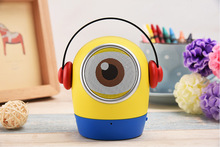 New Minions mini portable blutooth speaker despicable Me cartoon loudspeaker TF card wireless speaker for kids gifts children