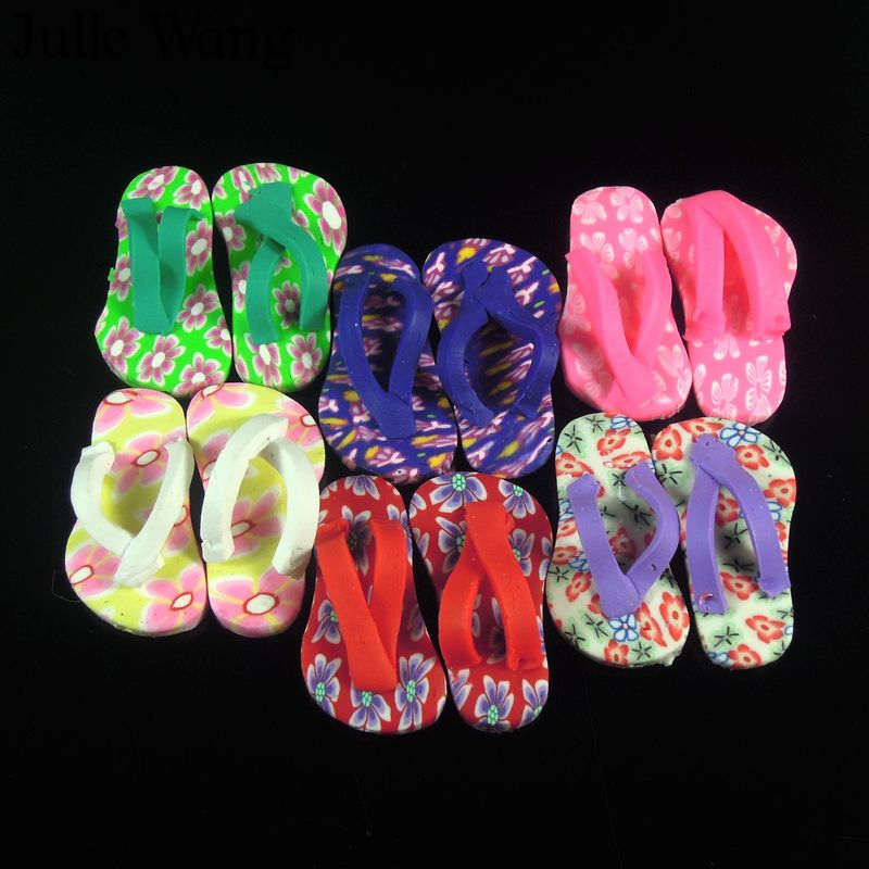 Color Mixture Tiny Polymer Clay Slippers Pendent Findings Charms 37407 40pcs
