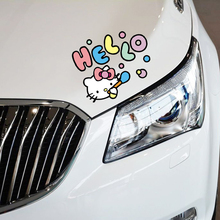 Car-styling Funny Hello Kitty Blowing Bubbles Cute Car Accessories Decal Sticker For Ford Focus Volkswagen BMW E46 Kia Opel(China)