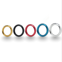 5 Color Metal Aluminum Penis Rings Male Cock Ring Delayed Ejaculation Adult Products Casing Delay Lock Loops Sex Toys For Men